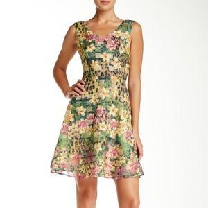 Taylor Sleeveless Burnout Organza Dress - NWT - 10